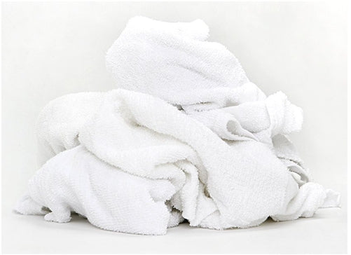 White Terry Cloth Towel Rags in Bag 5 lbs.