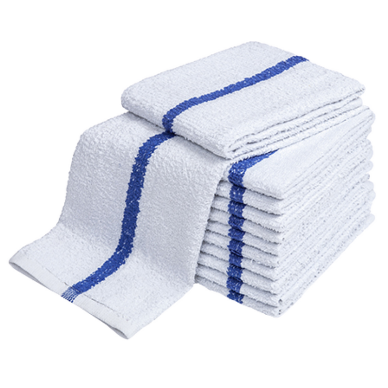 "Terry Bar Mop Towels Stripe 16""x19"" 180 Towels"