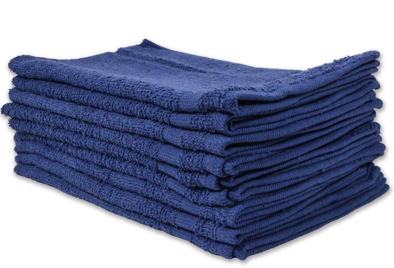 Cotton Terry Towels 16x27 Blue - 1 Dozen