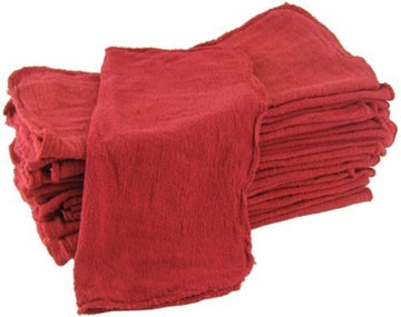Red Shop Towels - 100 Pieces