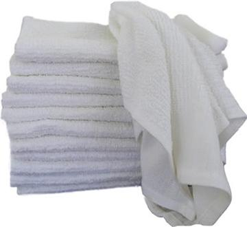 Terry Cotton Bar Towels - (25 lb. Box)