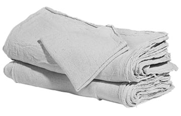 White Shop Towels - 100 Pieces