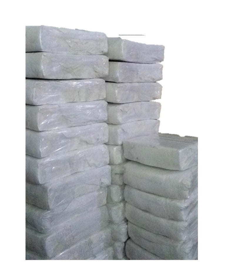 White T-Shirt Knit Rags - 600 LB Pallet in Bags
