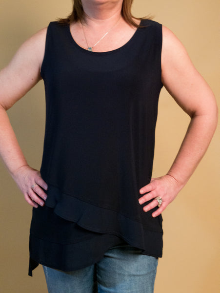 Picadilly - Layered Tank in Navy