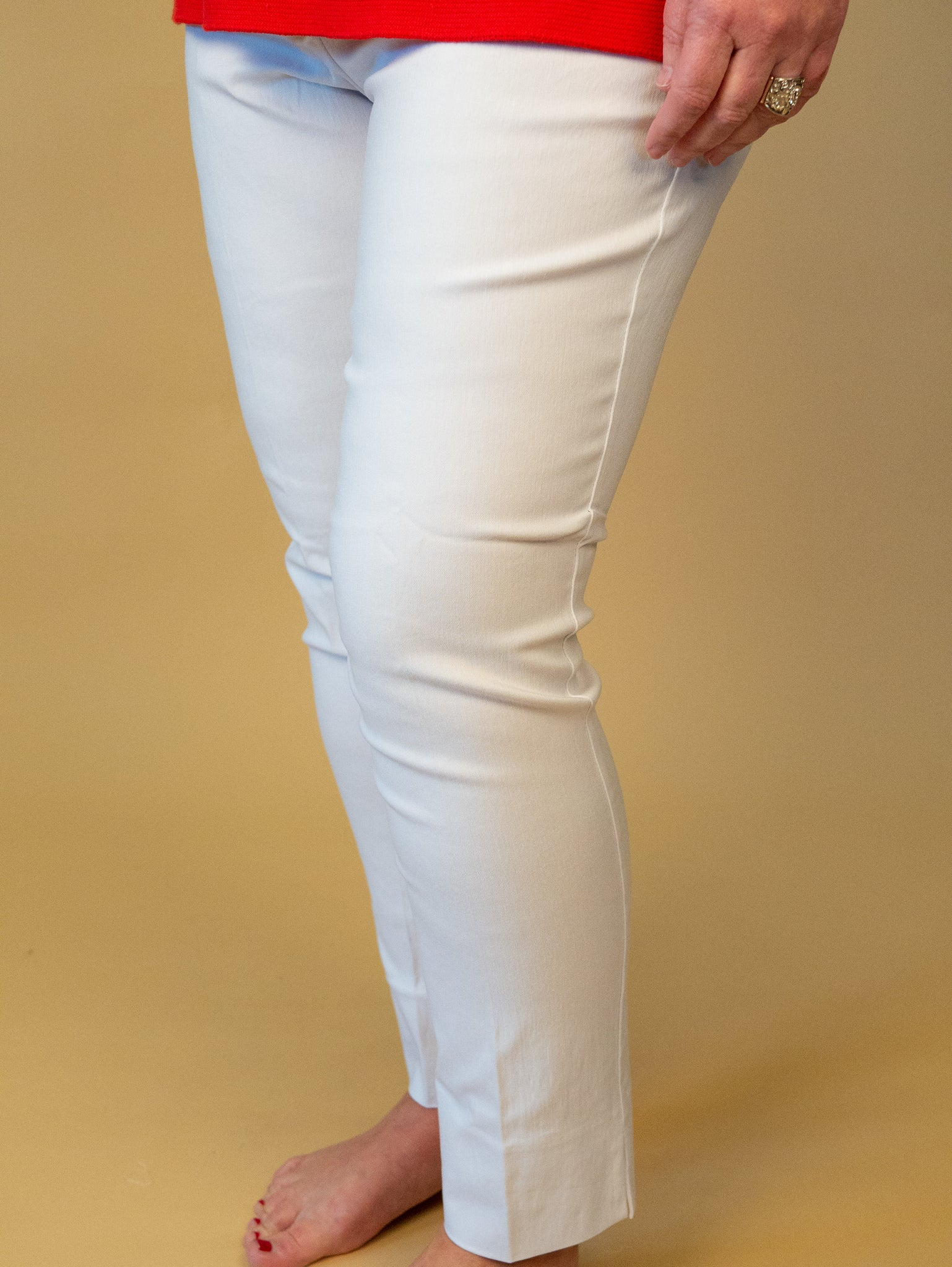 Renuar - Cigarette Ankle Pants in White