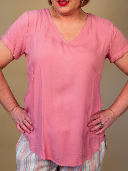 Ronnie Salloway - Pink V-Neck