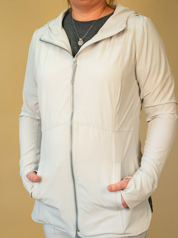 Renuar - Hooded Jacket in Silver