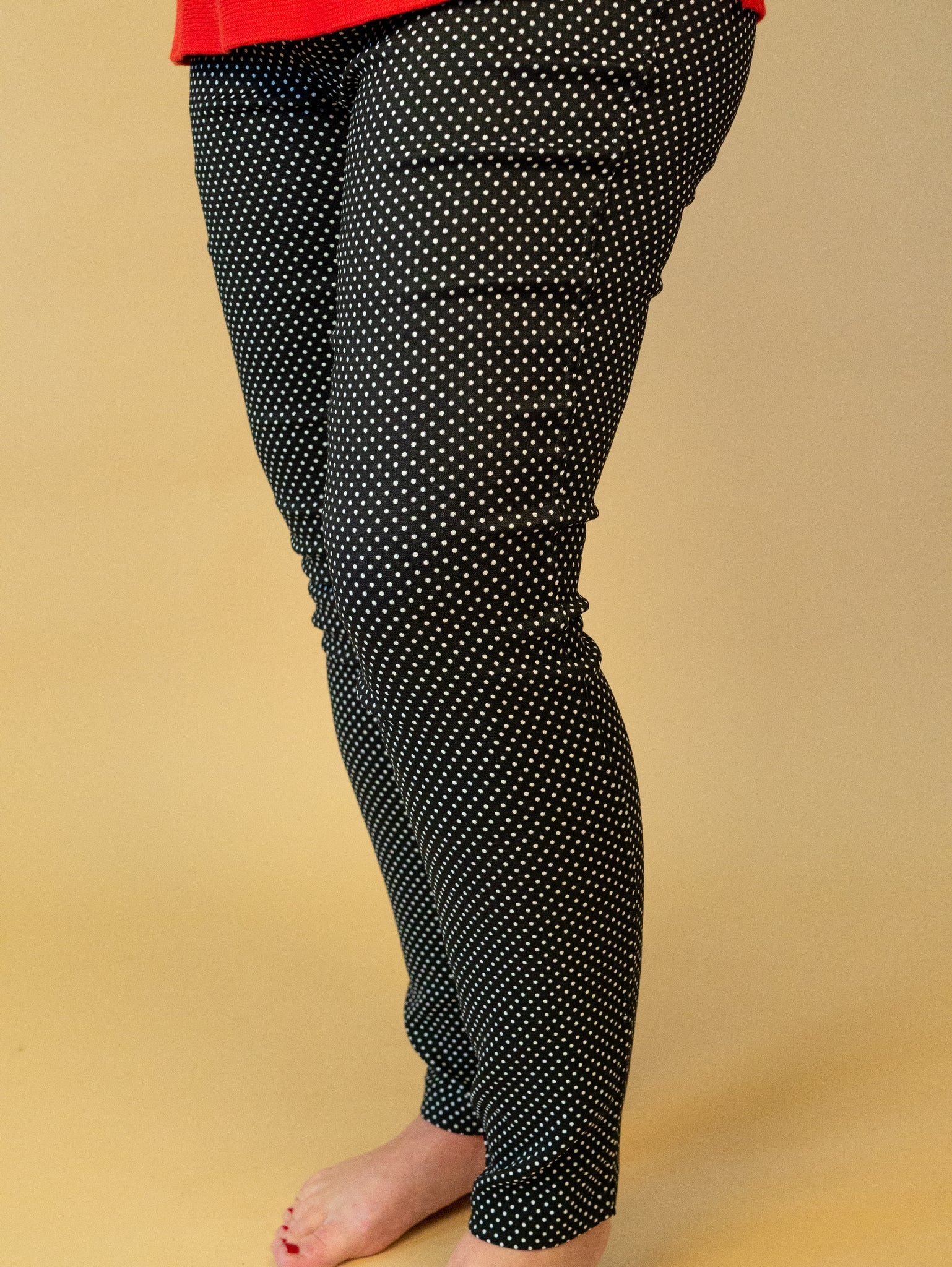 Renuar - Reversible Pull-On Pants in Polka Dots