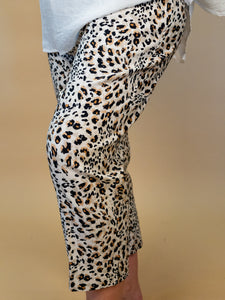 Ronnie Salloway - Animal Print Pull On Pants