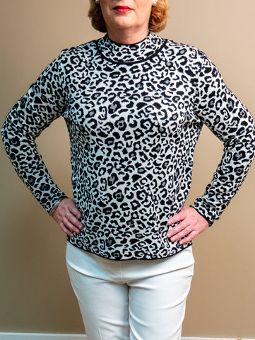 Renuar - Animal Print Knit Sweater
