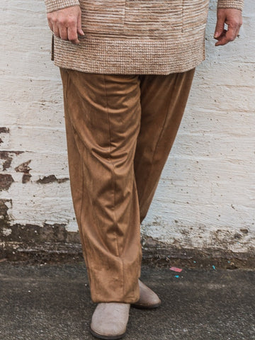Picadilly - Camel Zipper-Trim Pants