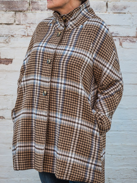 Luii - Brown Plaid Jacket