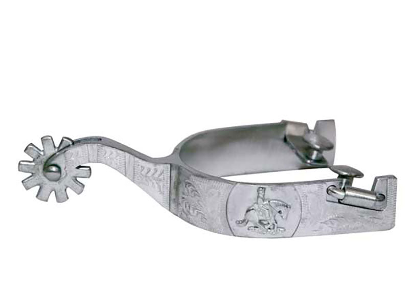 Pard's Western Shop Metalab Stainless Steel Engraved Reiner Spurs