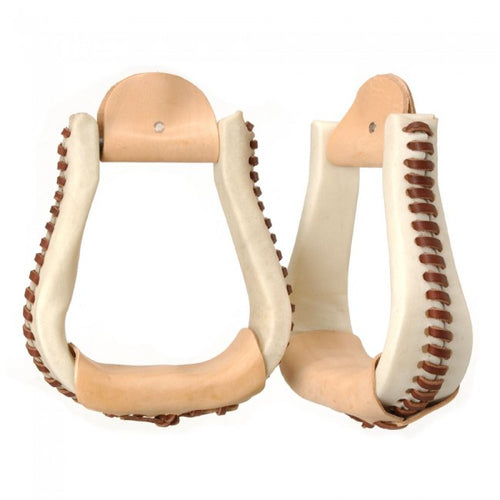 Rawhide Covered Bell Stirrups