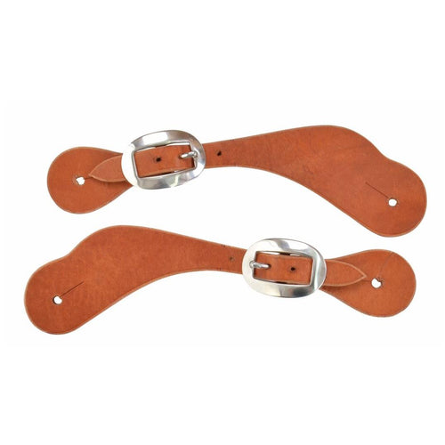 Hermann Oak Harness Leather Single Ply Spur Straps for Men