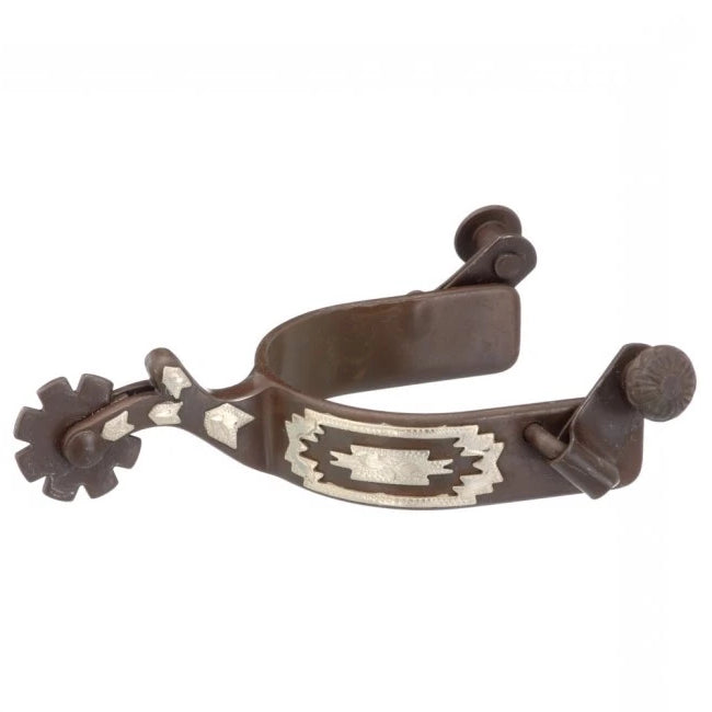 Pard's Western Shop Antique Brown/Silver Southwest Spurs for Youth
