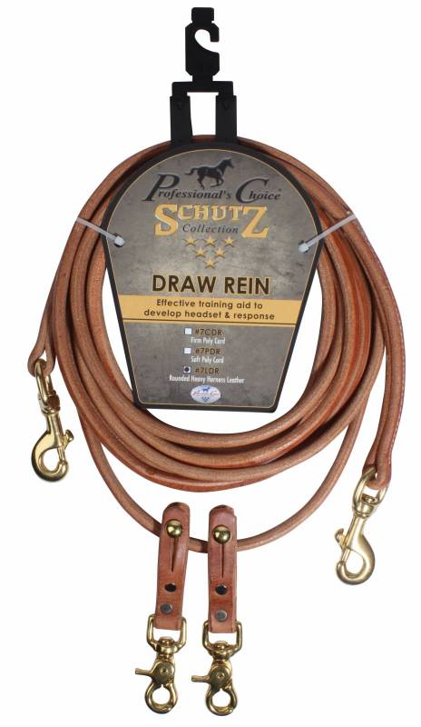 Rounded Harness Leather Draw Reins