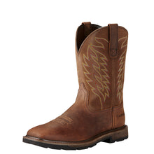 Ariat Brown Groundbreaker Boots with Wide Square Toe for Men