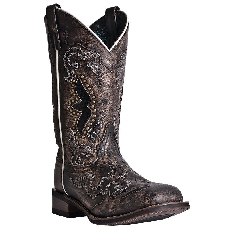 Laredo Black/Tan Spellbound Boots