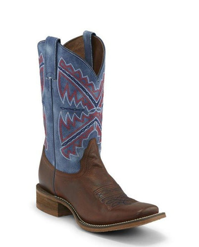 Nocona Brown Naida Boots with Rodeo Blue Tops for Women