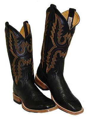Rod Patrick Black Smooth Ostrich Boots