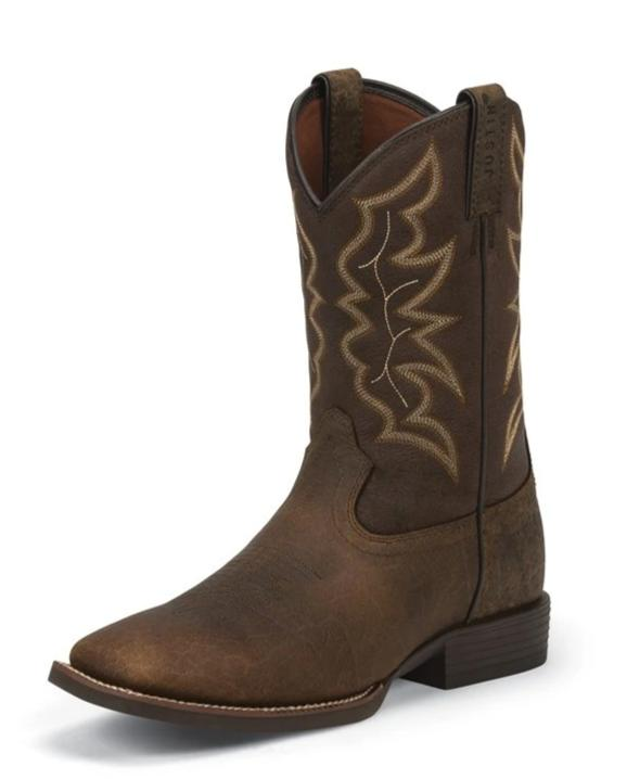 Justin Pebble Brown Chet Boots for Men