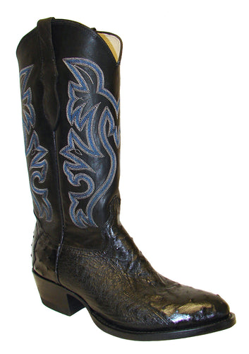 Cowtown 3 Piece Black Ostrich Boots for Men
