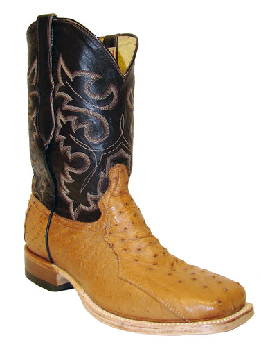 Cowtown Cognac 3 Piece Ostrich Boots for Men