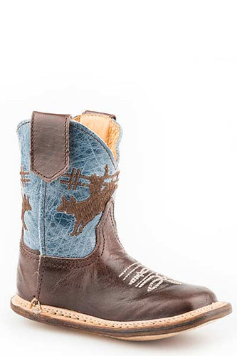 Pard's Western Shop Dark Brown Bull Rider Infant Cowbabies Boots from Roper Footwear