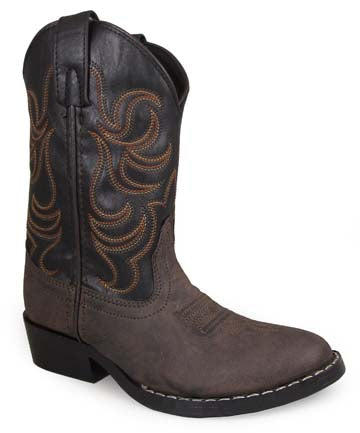 Brown/Black Monterey Western Boots for Kids from Smoky Mountain Boots