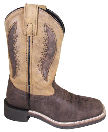 Brown Ranger Square Toe Boots for Kids from Smoky Mountain Boots