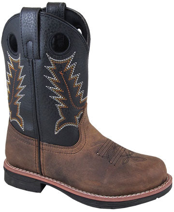 Distressed Brown Round Toe Buffalo Boots for Kids from Smoky Mountain Boots
