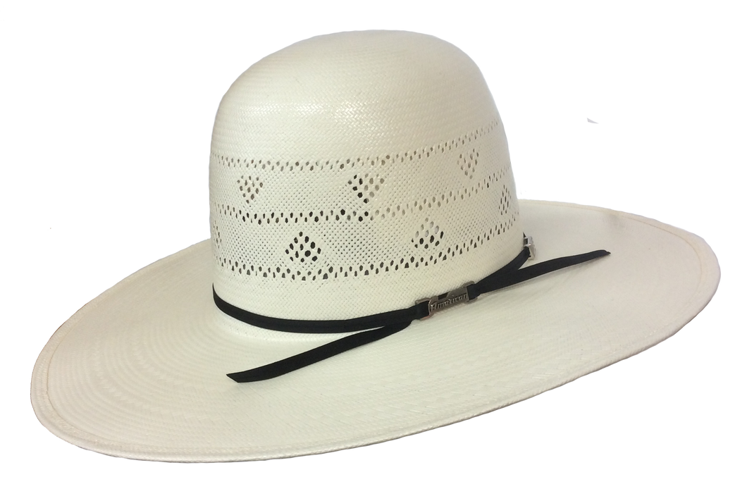 American Hat 2 Row Triangle Vent Straw Hat