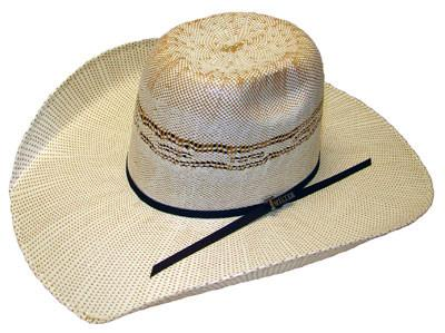 277e6ab91 Ivory/Tan Punchy Bangora Twister Straw Hat from M&F Western