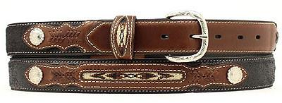 Black/Brown Belt with Multi Stitch Insert for Kids from Nocona Belts