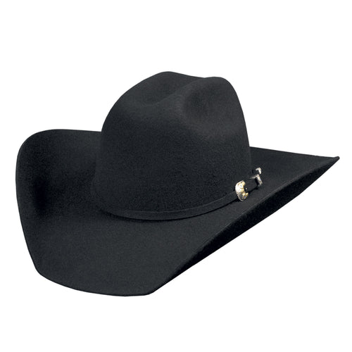 Bullhide Hats Black 4X Kingman Felt Hat