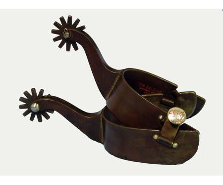 Tom Balding Brown Steel Spurs