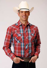 Red/Blue Plaid Western Shirt from Roper Apparel