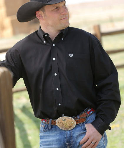 Cinch Solid Black Shirt