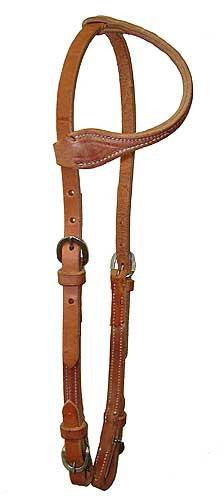 Contour Ear Harness Leather Headstall with Buckle End
