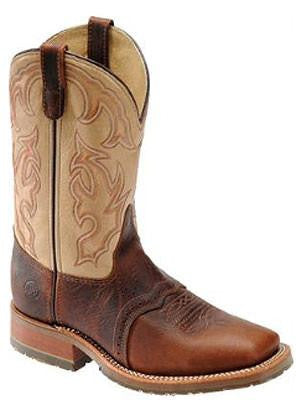 Double H Briar Bison Boot with Taupe Tops