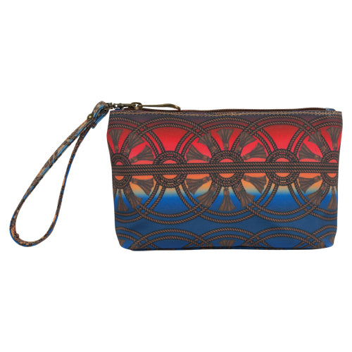 Justin Red/Blue Serape Print Wallet