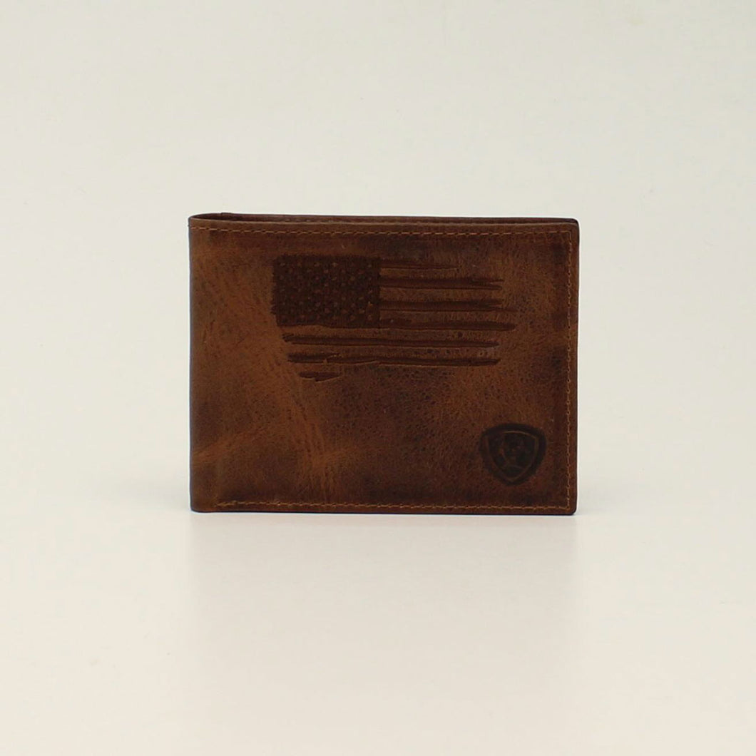 Ariat Distressed USA Flag Bifold Wallet
