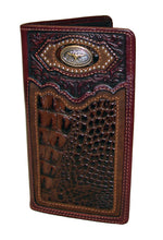 Pard's Western Wallet Silver Creek Classic Brown Camain Print Cattle Drive Rodeo Wallet