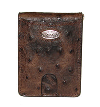 Nocona Brown Ostrich Bifold Money Clip/Card Holder