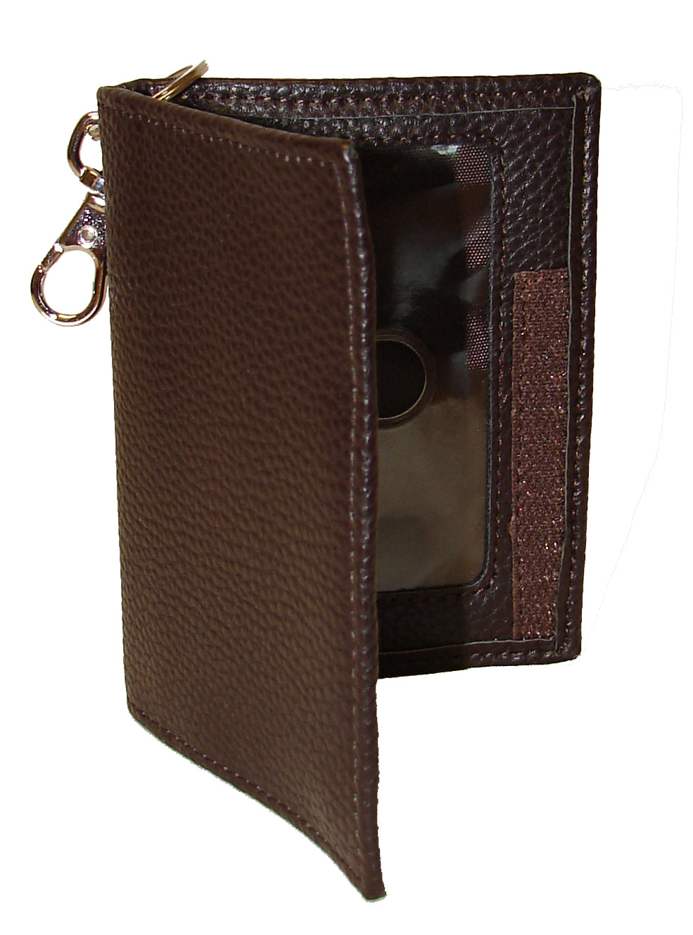 Pard's Western Shop 3-D Brown Leather Key Ring ID Holder