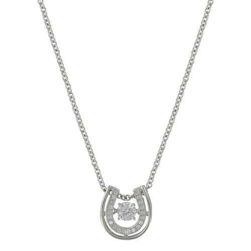 Montana Silversmiths Dancing with Luck Horseshoe Necklace