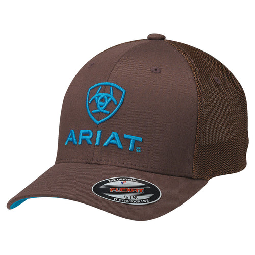 Ariat Brown/Blue FlexFit Ballcap