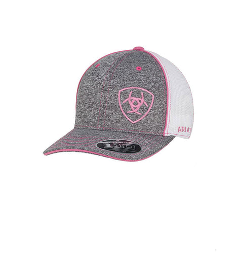 Ariat Ladies Gray/Pink Mesh Back Ballcap
