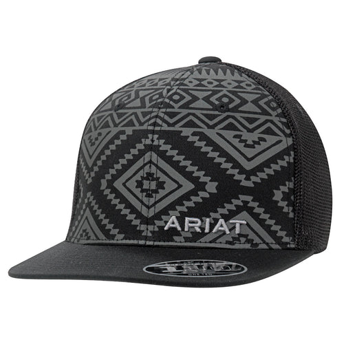Ariat Black/Grey Aztec Print Ballcap